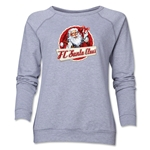 FC Santa Claus Animated Women's Crewneck Fleece (Gray)