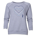 Tottenham Heart Women's Crewneck Fleece (Gray)