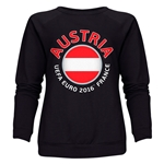 Austria Euro 2016 Fashion Women's Crewneck Sweatshirt (Black)