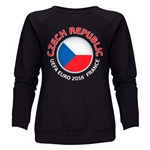 Czech Republic Euro 2016 Fashion Women's Crewneck Sweatshirt (Black)