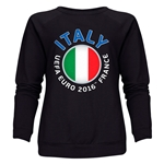 Italy Euro 2016 Fashion Women's Crewneck Sweatshirt (Black)