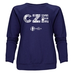 Czech Republic Euro 2016 Elements Women's Crewneck Sweatshirt (Navy)