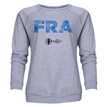 France Euro 2016 Elements Women's Crewneck Sweatshirt (Grey)