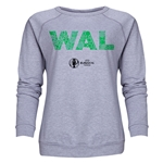 Wales Euro 2016 Elements Women's Crewneck Sweatshirt (Grey)