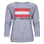 Austria Euro 2016 Fashion Women's Crewneck Sweatshirt (Grey)