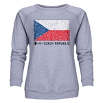 Czech Republic Euro 2016 Fashion Women's Crewneck Sweatshirt (Grey)