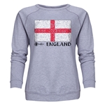 England Euro 2016 Fashion Women's Crewneck Sweatshirt (Grey)