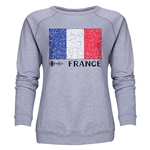 France Euro 2016 Fashion Women's Crewneck Sweatshirt (Grey)
