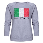 Italy Euro 2016 Fashion Women's Crewneck Sweatshirt (Grey)