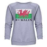 Wales Euro 2016 Fashion Women's Crewneck Sweatshirt (Grey)