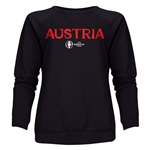 Austria Euro 2016 Core Women's Crewneck Sweatshirt (Black)