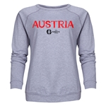 Austria Euro 2016 Core Women's Crewneck Sweatshirt (Grey)