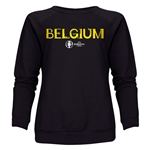 Belgium Euro 2016 Core Women's Crewneck Sweatshirt (Black)