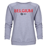Belgium Euro 2016 Core Women's Crewneck Sweatshirt (Grey)