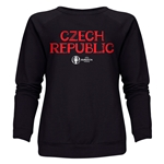 Czech Republic Euro 2016 Core Women's Crewneck Sweatshirt (Black)