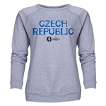 Czech Republic Euro 2016 Core Women's Crewneck Sweatshirt (Grey)