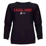 England Euro 2016 Core Women's Crewneck Sweatshirt (Black)