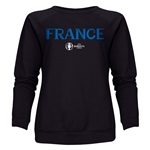 France Euro 2016 Core Women's Crewneck Sweatshirt (Black)