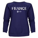 France Euro 2016 Core Women's Crewneck Sweatshirt (Navy)