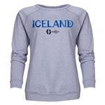 Iceland Euro 2016 Core Women's Crewneck Sweatshirt (Grey)