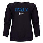 Italy Euro 2016 Core Women's Crewneck Sweatshirt (Black)
