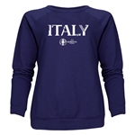 Italy Euro 2016 Core Women's Crewneck Sweatshirt (Navy)