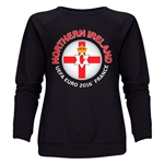 Northern Ireland Euro 2016 Fashion Women's Crewneck Sweatshirt (Black)
