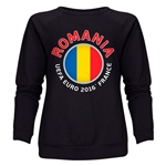 Romania Euro 2016 Fashion Women's Crewneck Sweatshirt (Black)