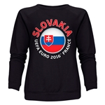 Slovakia Euro 2016 Fashion Women's Crewneck Sweatshirt (Black)