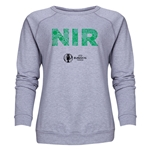 Northern Ireland Euro 2016 Elements Women's Crewneck Sweatshirt (Grey)