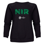 Northern Ireland Euro 2016 Elements Women's Crewneck Sweatshirt (Black)