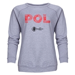 Poland Euro 2016 Elements Women's Crewneck Sweatshirt (Grey)