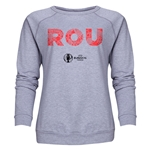 Romania Euro 2016 Elements Women's Crewneck Sweatshirt (Grey)