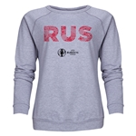Russia Euro 2016 Elements Women's Crewneck Sweatshirt (Grey)