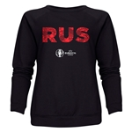 Russia Euro 2016 Elements Women's Crewneck Sweatshirt (Black)
