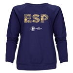 Spain Euro 2016 Elements Women's Crewneck Sweatshirt (Grey)