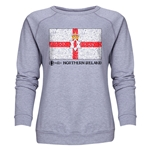 Northern Ireland Euro 2016 Fashion Women's Crewneck Sweatshirt (Grey)