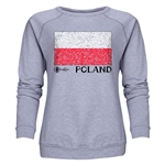 Poland Euro 2016 Fashion Women's Crewneck Sweatshirt (Grey)
