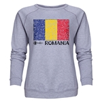 Romania Euro 2016 Fashion Women's Crewneck Sweatshirt (Grey)