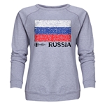 Russia Euro 2016 Fashion Women's Crewneck Sweatshirt (Grey)