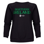 Northern Ireland Euro 2016 Core Women's Crewneck Sweatshirt (Black)