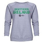 Northern Ireland Euro 2016 Core Women's Crewneck Sweatshirt (Grey)