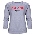 Poland Euro 2016 Core Women's Crewneck Sweatshirt (Grey)