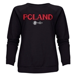 Poland Euro 2016 Core Women's Crewneck Sweatshirt (Black)