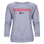 Romania Euro 2016 Core Women's Crewneck Sweatshirt (Grey)