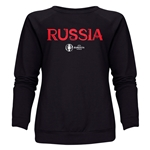 Russia Euro 2016 Core Women's Crewneck Sweatshirt (Black)