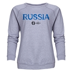 Russia Euro 2016 Core Women's Crewneck Sweatshirt (Grey)