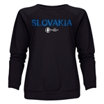 Slovakia Euro 2016 Core Women's Crewneck Sweatshirt (Black)