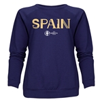 Spain Euro 2016 Core Women's Crewneck Sweatshirt (Navy)