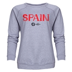 Spain Euro 2016 Core Women's Crewneck Sweatshirt (Grey)
